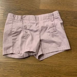 Lavender sailor-style shorts, size 2